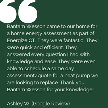 BantamWesson customer review from Google