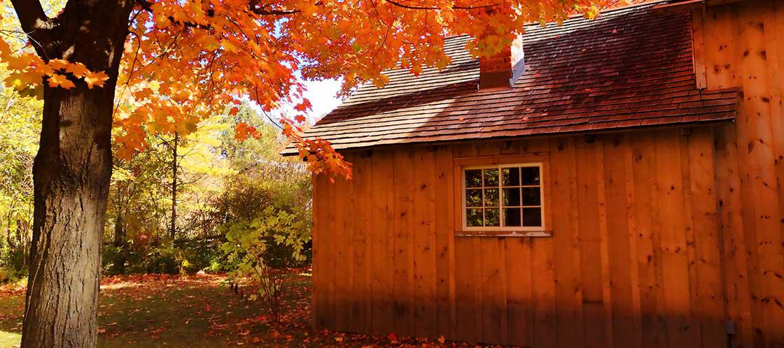 A Connecticut home in fall
