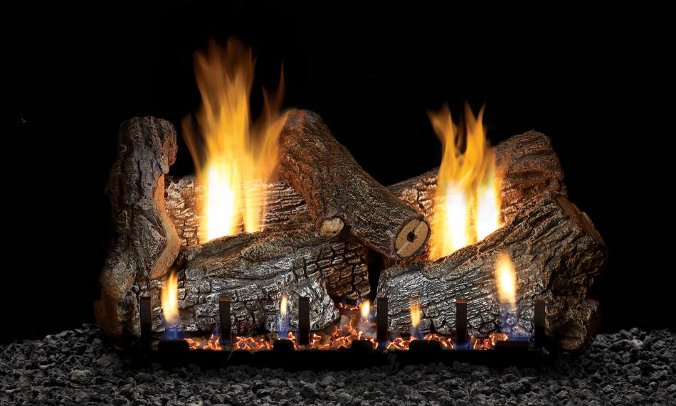 Sassafras propane log set