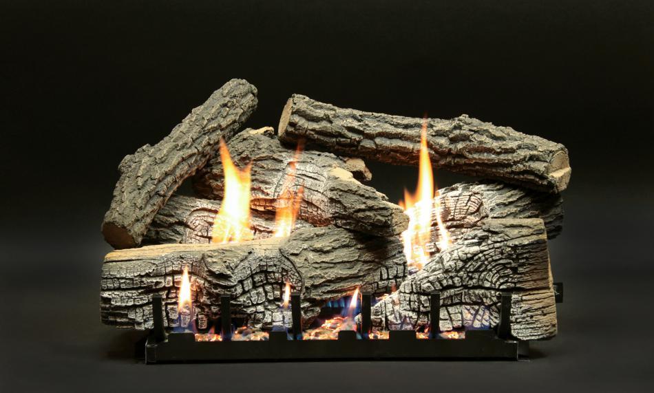 Super stacked wildwood propane log set