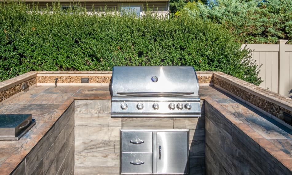 Outdoor grill and kitchen