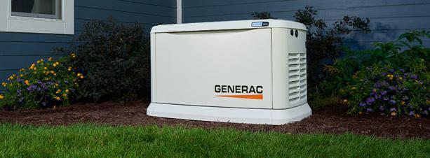 Generac generator outside of a home