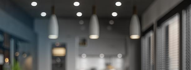 Modern kitchen with LED lighting