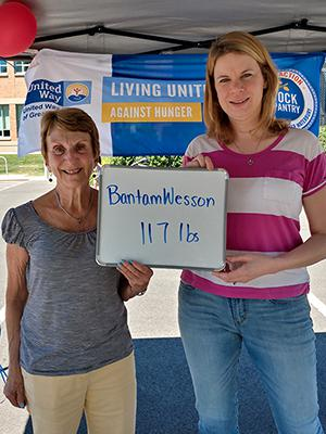 BantamWesson employees participating in Stock the Pantry fund raiser.