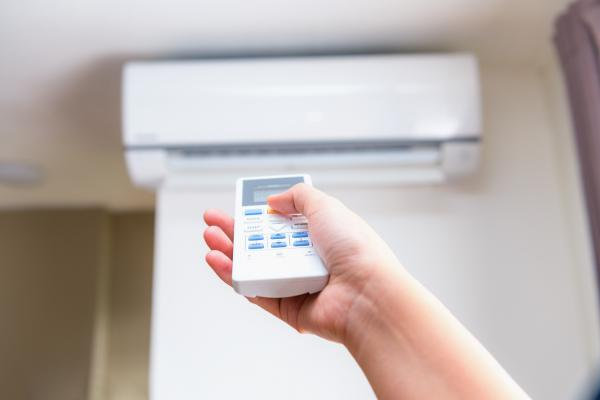 A remote controlled ductless AC system