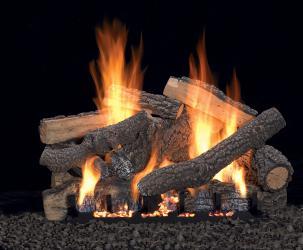 Traditional gas log set
