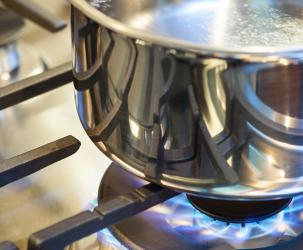 A close up of a propane stove