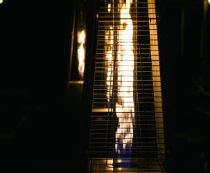Close up propane patio heater